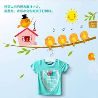 Children Wallpaper Clothes Hook