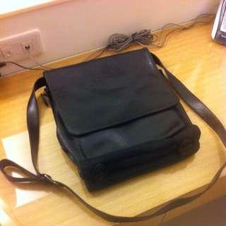 雙面側背包