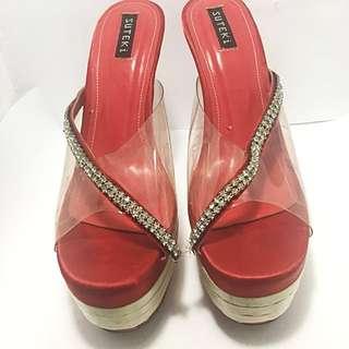 Suteki Party Sandals Red