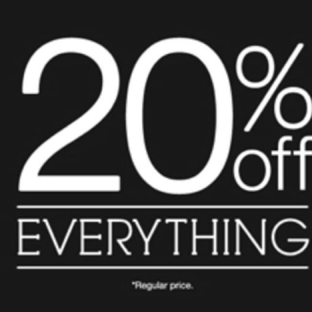 20% off everything!!!!