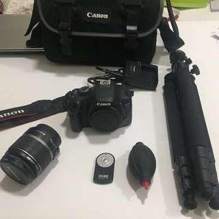Canon EOS 550D + wireless remote triangle holder