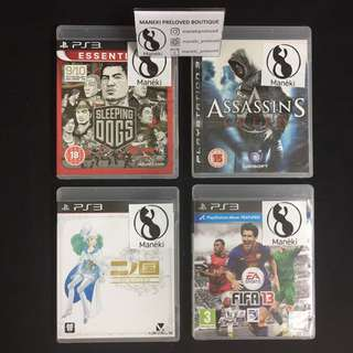 PS3 titles for clearance