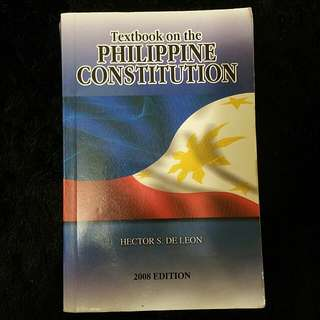 Textbook On The Phil. Constitution