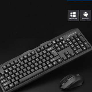Wireless keyboard and mouse set notebook Desktop Office home game smart TV wireless mouse free batteries windows mac apple smart tv
