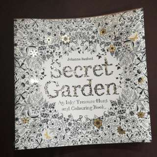 Secret garden (An inky treasure hunt and colouring book)