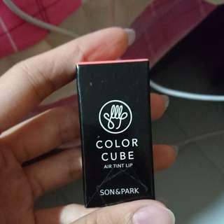 Son and park colour cube air tint lip -03 rosy coral