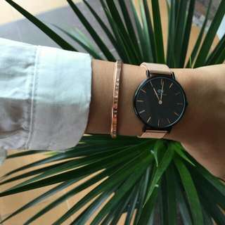 Daniel Wellington Petite Melrose Black Original