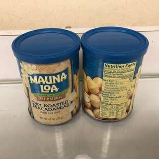 全新 Mauna Loa 鹽焗夏威而果仁 兩罐 有效日期至5/2019 127g x2 原價$72.9 x2 現$85 包郵👍🏻
