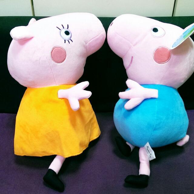 全新佩佩豬玩偶,單售