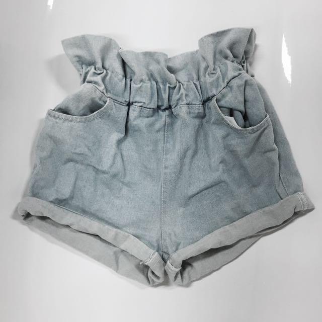 荷花邊牛仔短褲