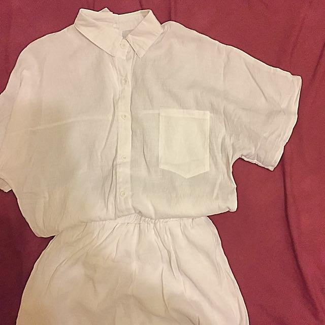 白色襯衫套裝