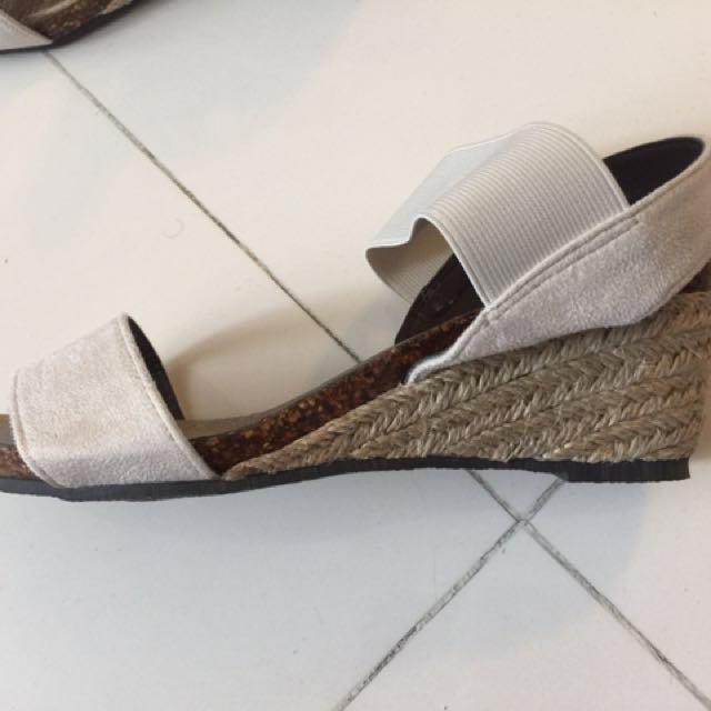 全新  38碼 日本 增高 竹底 鬆糕涼鞋
