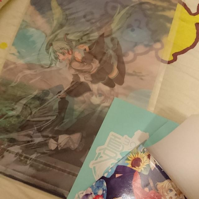 全新 初音miku. File postcard