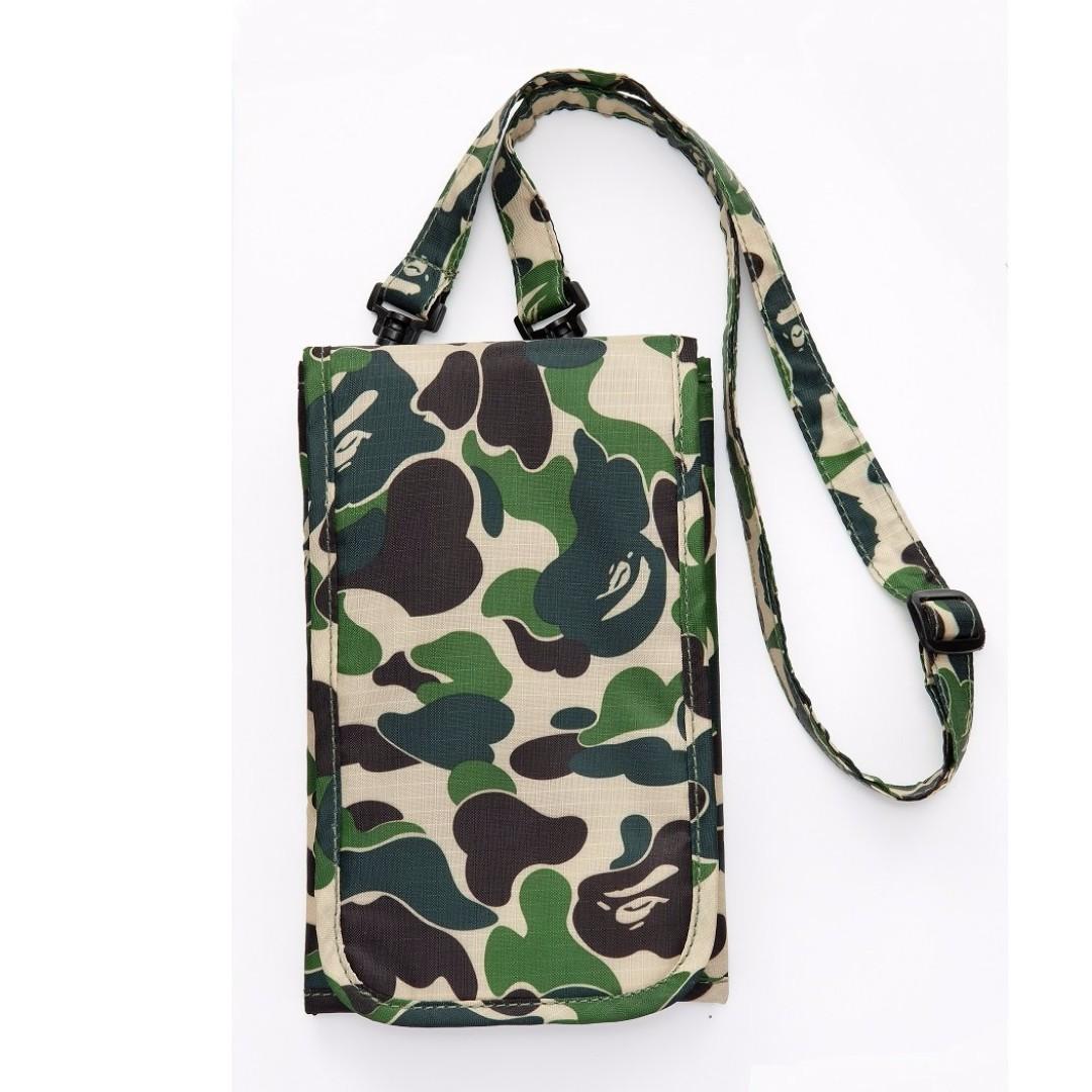 0d4c1723140f A Bathing Ape BAPE - Green Camouflage Shoulder Pouch