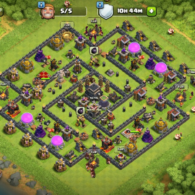 Acc clash of clans utk dilepaskan Th9 max -def all max