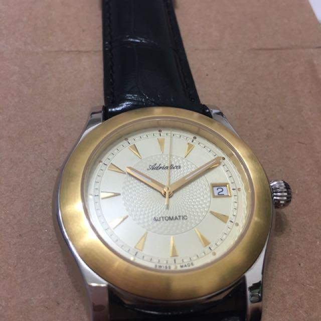 Adriatica 瑞士自動機械錶 背透 ETA 2824-2
