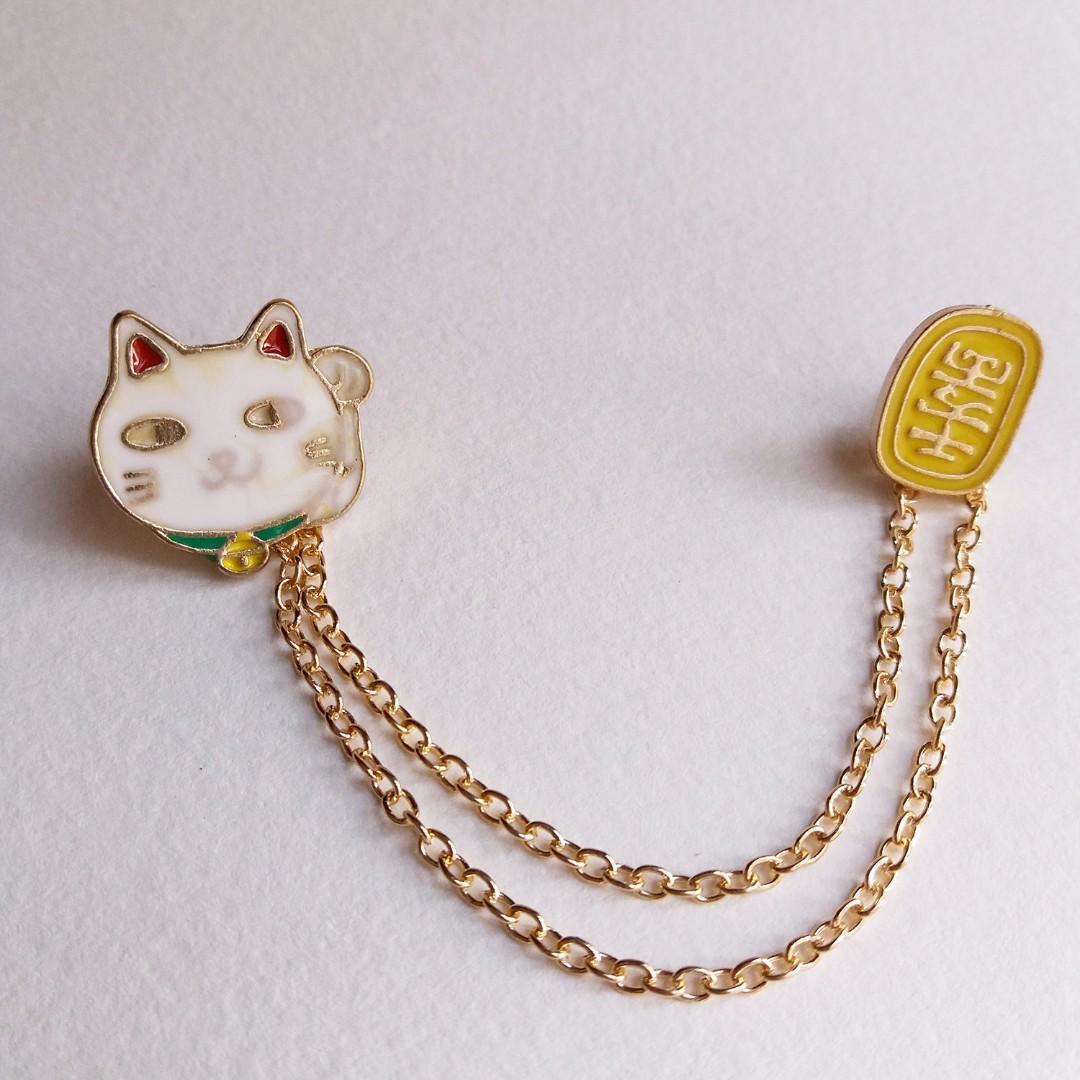 Aksesoris Pin Bros Import Kucing Lucky Cat