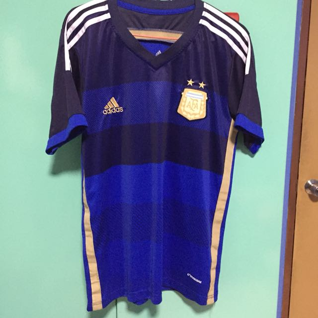 best service ade2f 87611 Argentina Away World Cup Jersey 2014, Sports, Sports Apparel ...