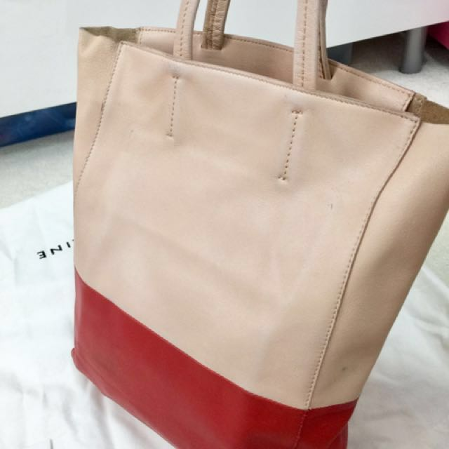 Authentic Celine Bi-color Lambskin Cabas