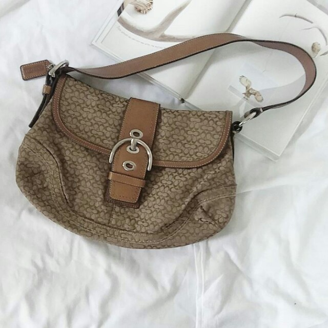 Authentic Coach Handbag (Leather x Canvas)