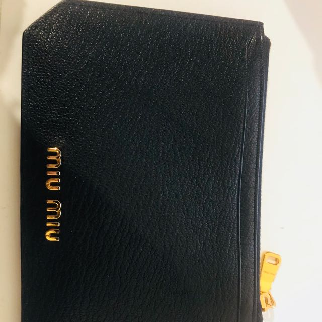 Authentic Miu Miu card holder