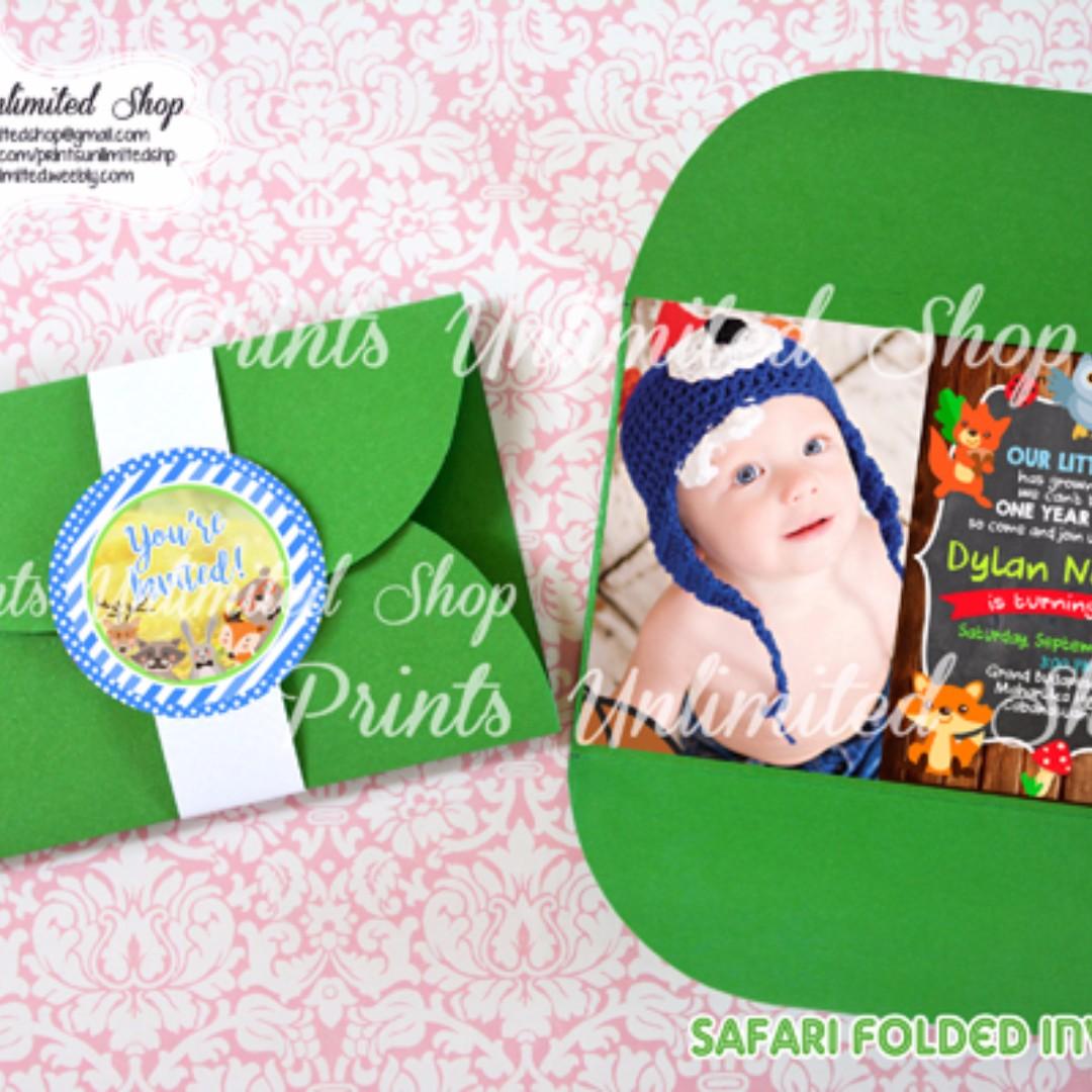 Baby boy safari invitation christening birthday baptism dedication photo photo stopboris Gallery