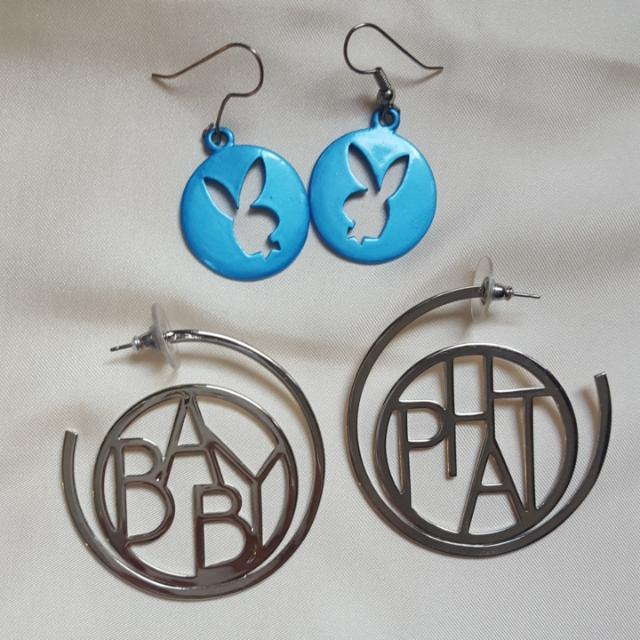 Baby Phat And Playboy Earings