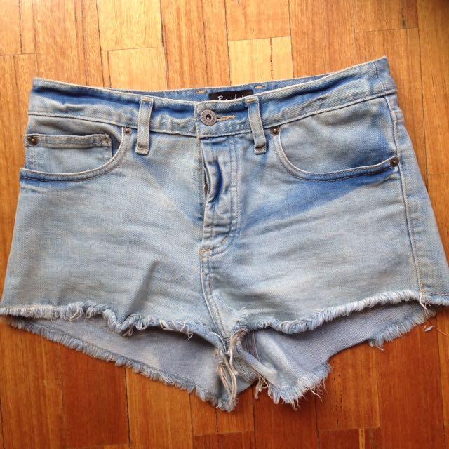 Bardot denim shorts size 10