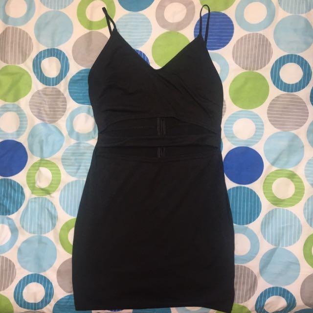Black dress with cutouts