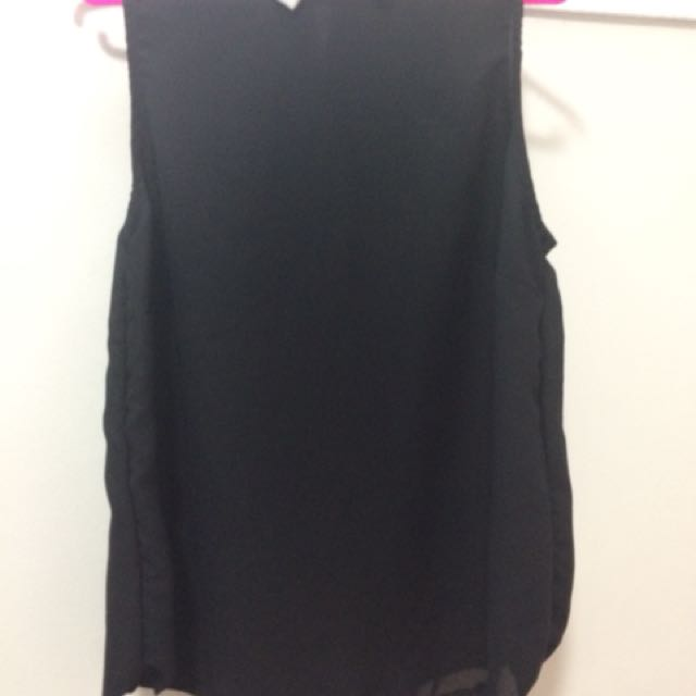 Black Sleeveless Sheer top
