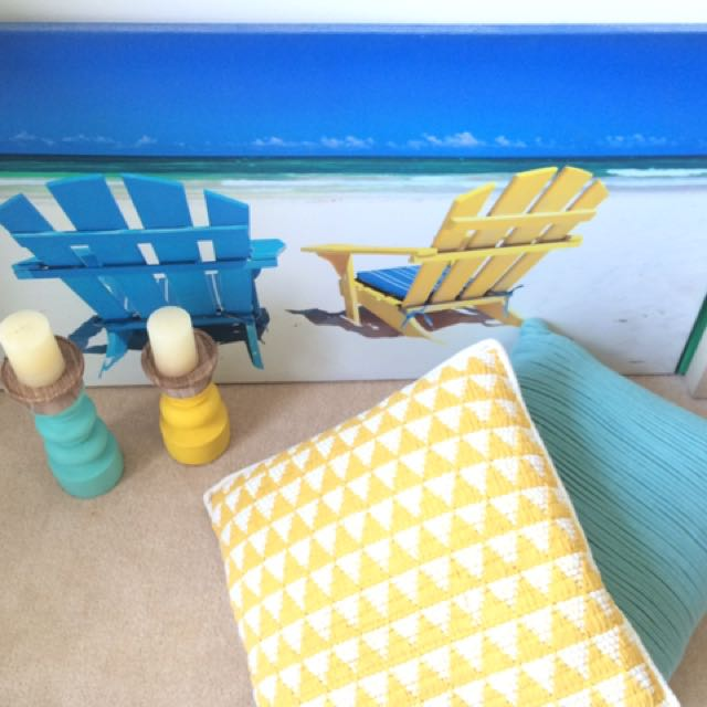 Blue and yellow decors