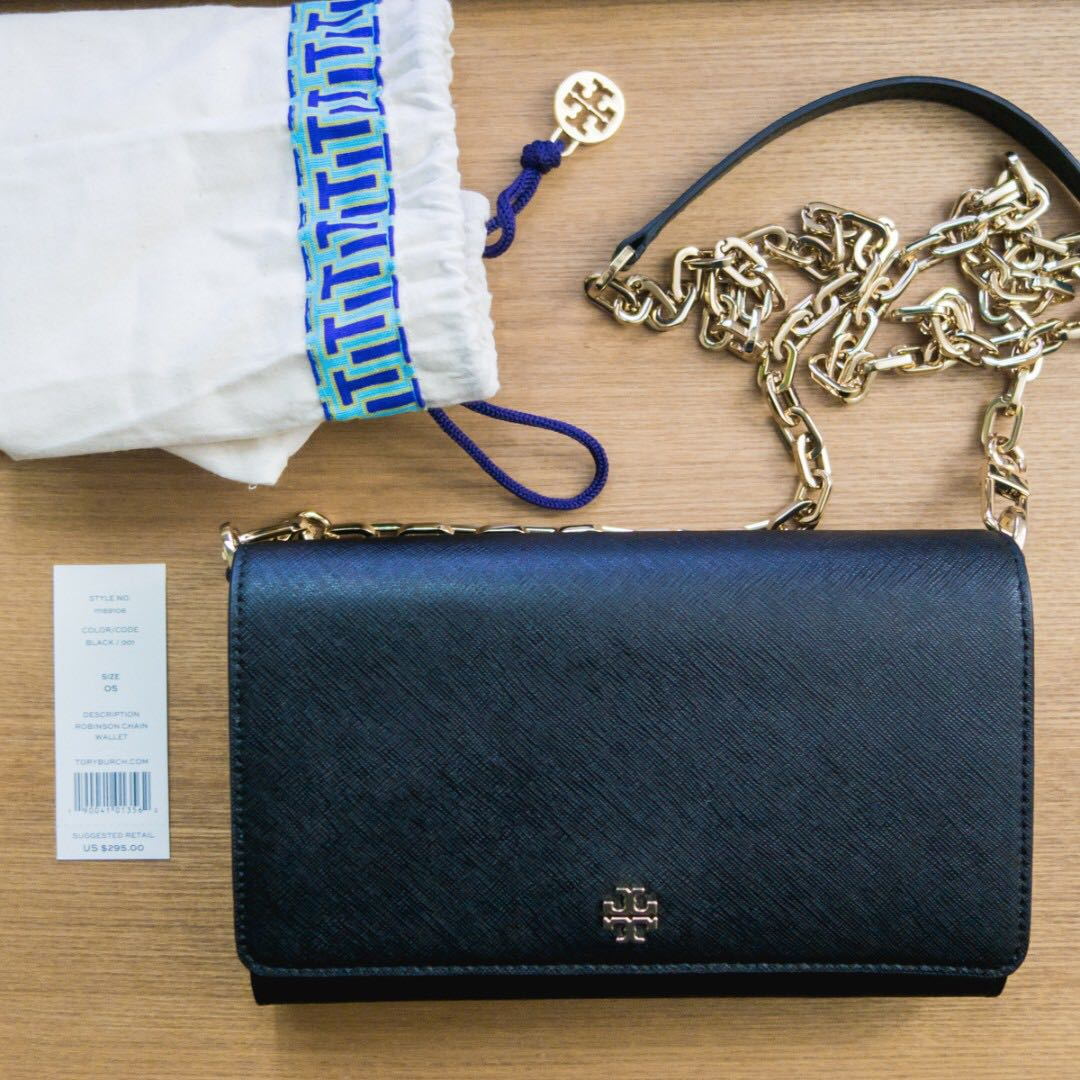 97bdfb20d0d BN Tory Burch Robinson Chain Wallet Bag