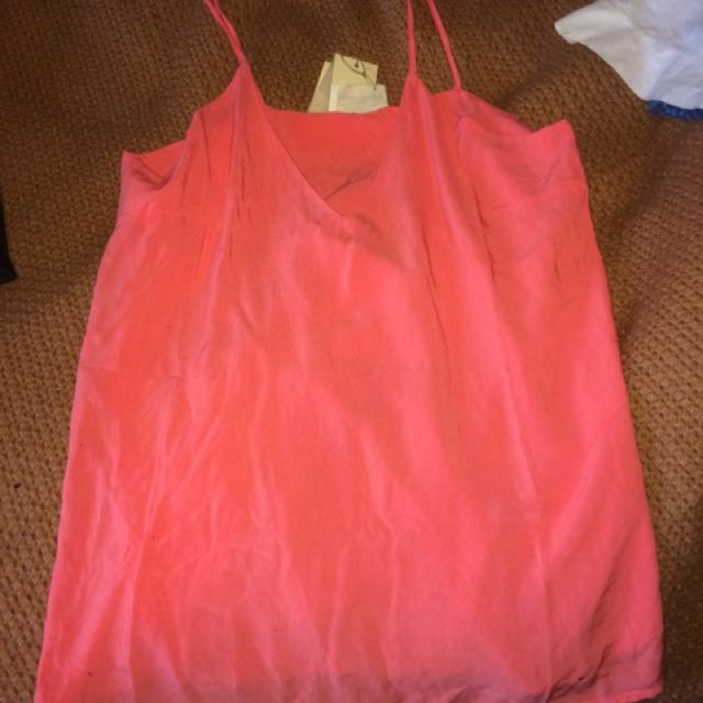 Brand new coral coloured Cami