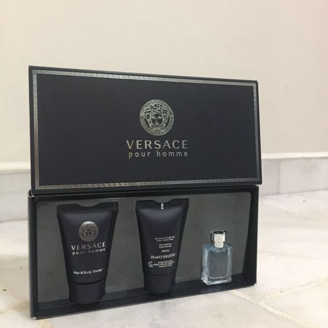 Brand new Versace Pour Homme travel pack