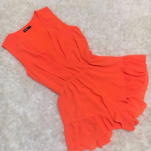 Bright Orange Playsuit