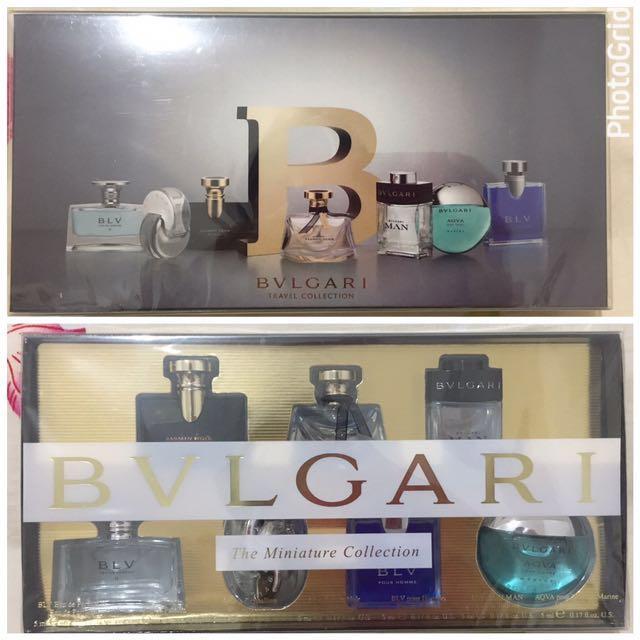 BVLGARI Mini Perfume Set Isi 7 (men And Women)