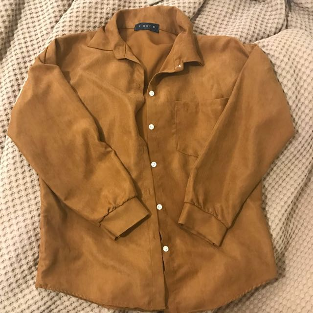 Camel Brown Long Sleeve Shirt