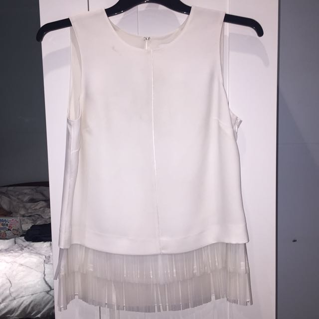 Country Road white tassel top