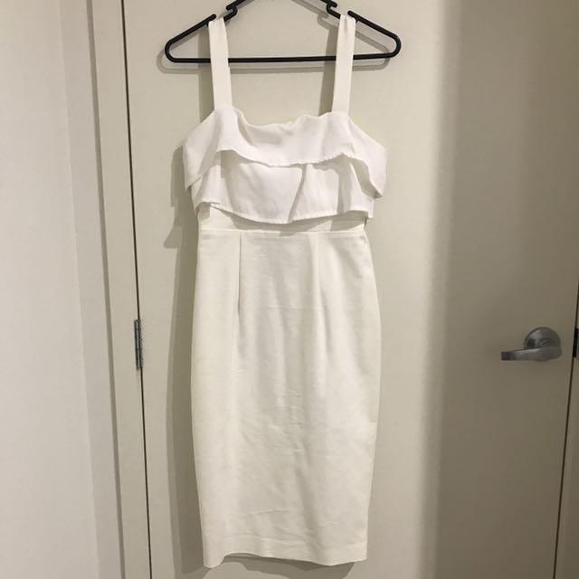 DISSH White Dress Size 8