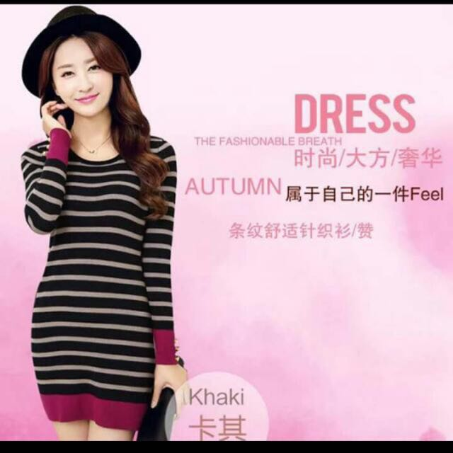 Dress Free SF (Stripes, Navy Blue)