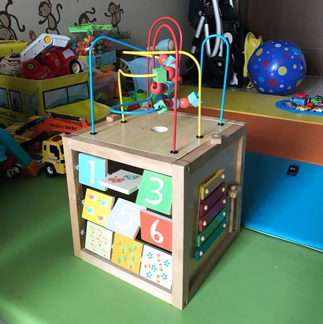 ELC Giant Wooden Activity Cube