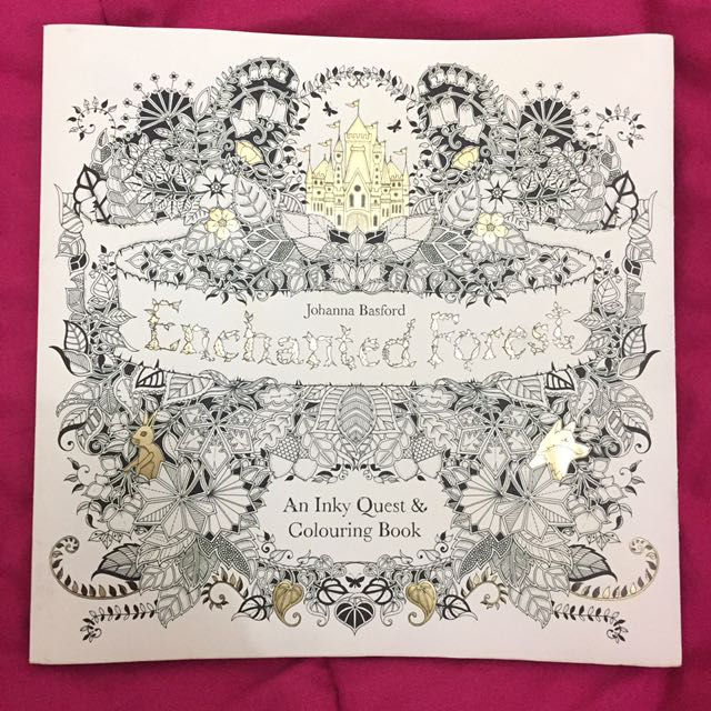 Enchanted Forest Colouring Book by Johanna Basford.