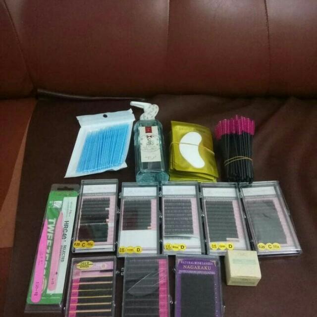 Tidak jual satuan 😊Eyelash extension kit / paket belajar bulu mata