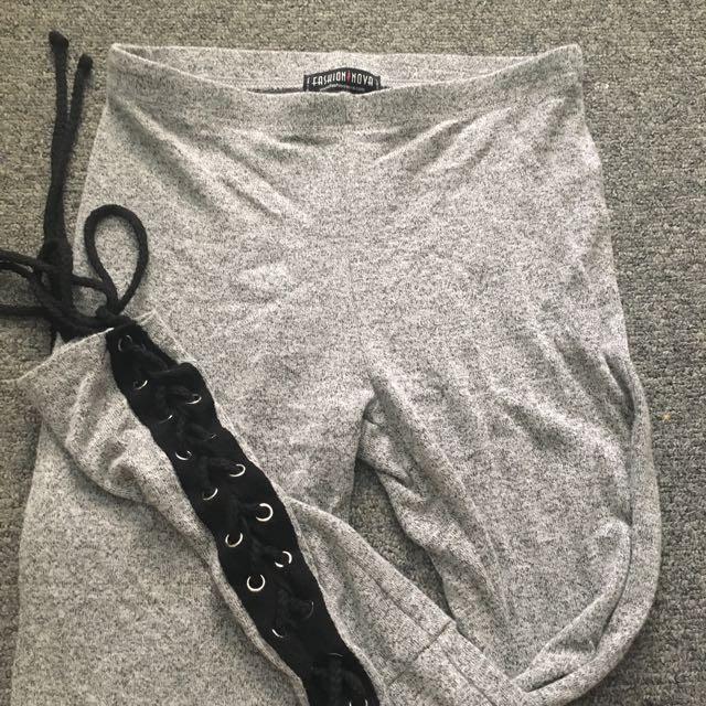 Fashion Nova Grey Leggings