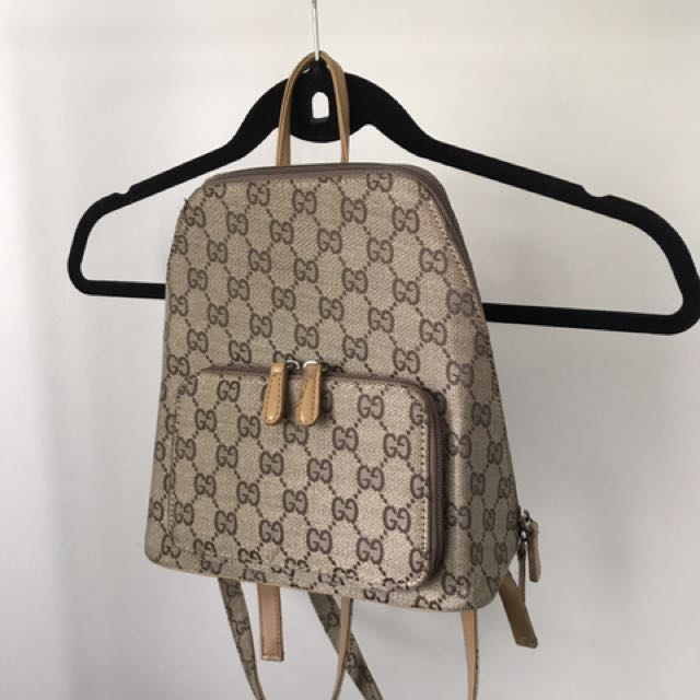 Faux Gucci inspired backpack