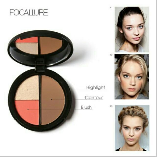 Focallure (highlighter, blush, contour)