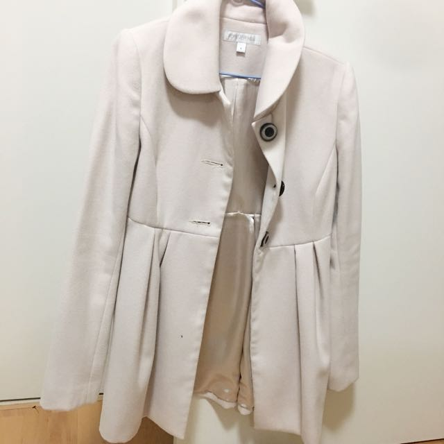 Forever New Cream Trench Coat (size 8)