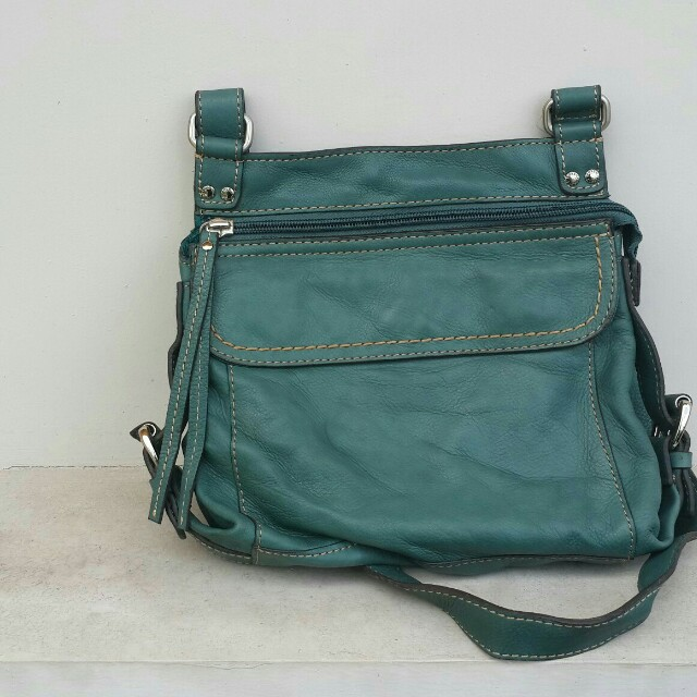 Fossil Sutter Crossbody Leather - Teal
