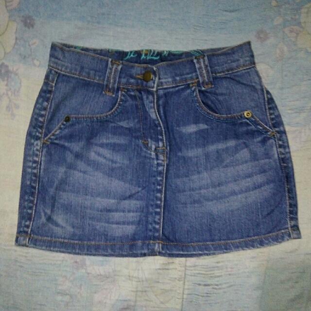 Free shipping! Denim Mini Skirt