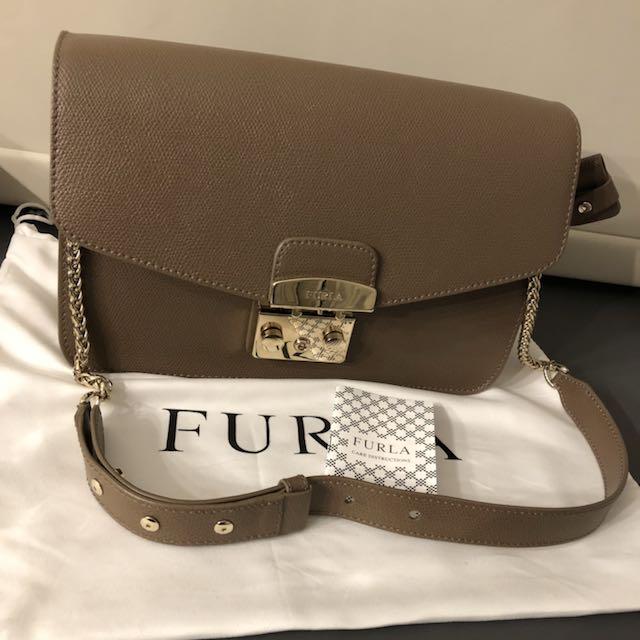 a050ead24 Furla metropolis s shoulder bag, Luxury, Bags & Wallets on Carousell